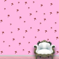 WallDesign Aeroplanes Wall Pattern Brown Stickers Set Of 52 (12.5 Cm X Cm 11.25, Brown)