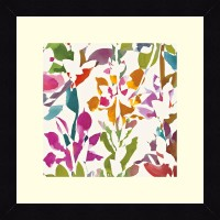 ART4U Pink Garden Square III White - Framed Print 16 Inch X 16 Inch (Multicolor)