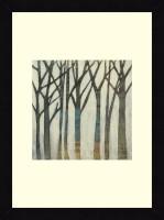 ART4U Birch Line I - Framed Print 16 Inch X 22 Inch (Multicolor)