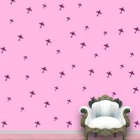 WallDesign Aeroplanes Wall Pattern Violet Stickers Set Of 52 (12.5 Cm X Cm 11.25, Purple)