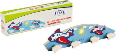 Eduspace Wall Bottle Hanger - Aeroplane Multicolor