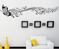 Icable 3d Butterfly Wall Stickers Decoration Art Removable Home Decor Living Room Decor (45 Cm X Cm 197, Black)