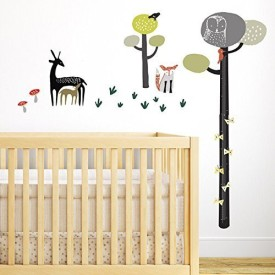 wee gallery Wall Graphics- Quiet Forest Growth Chart