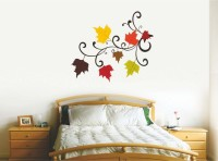 Happy Walls Stickers Colorfull Blssom Leaves In Home Design 9004 (Multicolor)