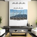 999Store Multiple Frames Printed Flying Planes Like Modern Wall Art Painting - 5 Frames (148 X 76 Cms) - Multicolor