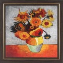 WENS Flowers In A Pot Wall Painting - Oarnge, Grey
