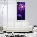 999Store Multiple Frames Printed Star In The Sky Like Modern Wall Art Painting -2 Frames (76x25 Cm) - Multicolor