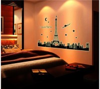 Oren Empower Great Luminous Paris Large Wall Sticker (92 Cm X Cm 165, Black)
