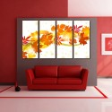999Store Multiple Frames Printed Tree Leafs Like Modern Wall Art Painting - 4 Frames (127x76 Cm) - Multicolor