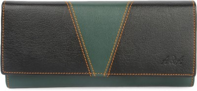 A & A Acessories Women Green, Black Artificial Leather Wallet