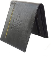 Sasta Vasta Men Casual Black Artificial Leather Wallet 8 Card Slots