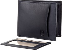 U+N Men Casual, Formal Blue Genuine Leather Wallet 4 Card Slots