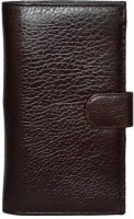 Rehan's Men, Women Casual Brown Genuine Leather Card Holder 8 Card Slots