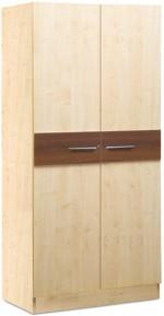 Debono Valentino Two door Wardrobe in Walnut & Maple Matt Finish Engineered Wood Free Standing Wardrobe