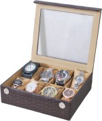 The Runner Watch Boxes The Runner Croc Finish Transparent Watch Box