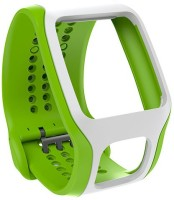 Tomtom Comfort Band - Cardio Green White 35 Mm Silicone Rubber Watch Strap Bright Green, White