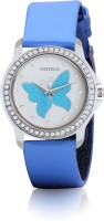 Fostelo Blue Butterfly Analog Watch - For Women