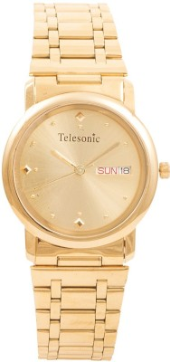 Telesonic RGD-02 Shubham Gold Tone Analog Watch  - For Men