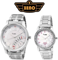 Xeno FT23-283 Chronograph Date Day Type FasTrack.ed White Pink Hearts Fossil.ising Loise Britexer Caroney Titan.ium Branded Timex.ed Sonata.ngo Analog Watch  - For Couple