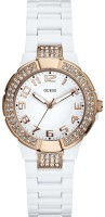 Guess Mini Prism Analog Watch  - For Women - White