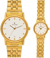 Titan Analog Watch - For Couple (Gold)