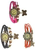 Felizo Bracelet Vintage Butterfly (Combo Of 3) Analog Watch  - For Women, Girls