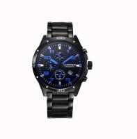 Curren Blue Font Decker Analog Watch  - For Men