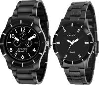 Casado 833 All Black Couple Analog Watch  - For Couple, Men, Boys, Women, Girls