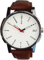 IKD Collections Brown Leather Strap WC161 Fashion Analog Watch  - For Men
