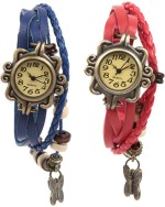 Felizo Wrist Watches Felizo Bracelet Party ware Vintage Latkan Butterfly Analog Watch For Women