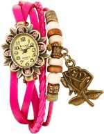 Crystal Collections Wrist Watches Crystal Collections ROS PNK Vintage Analog Watch For Girls