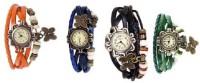 Viser Vintage01 Leather Strap Set Of 4 Combo Analog Watch  - For Women, Girls