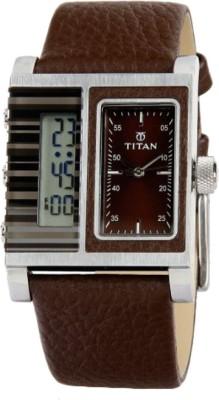 Titan Analog Digital Watch   For Men Brown available at Flipkart for Rs.6295