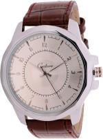 Gesture Wrist Watches Gesture Elegant Silver Brown Elegant Analog Watch For Men