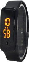 KMS Unisex Glass Led_Bravo_Black_Digital Digital Watch  - For Men, Women, Boys, Girls