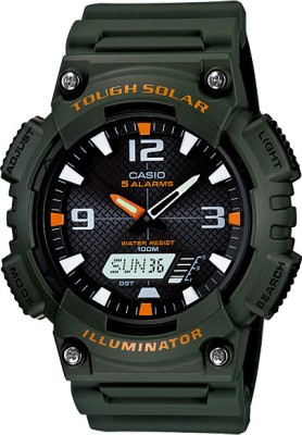 Casio Youth Combination Analog Digital Watch   For Men Green available at Flipkart for Rs.4080