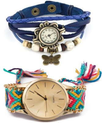 Jack Klein Stylish Geneva-205 & Blue Vintage Analog Watch  - For Girls, Women