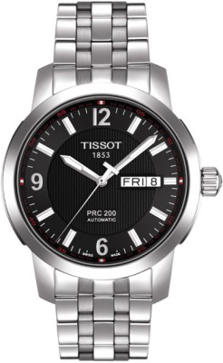 Tissot PRC-200 Automatic Analog Watch - For Men Silver