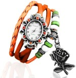 Crystal Collections Wrist Watches Crystal Collections ROS ORN Vintage Analog Watch For Girls