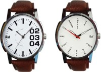 Ikd Combo Of Brown Leather Strap CMB-61-161 Fashion Analog Watch  - For Men