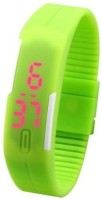 3wish LED RUBBER MAGNET GREEN Digital Watch  - For Boys, Girls, Men, Women