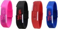 Intricate Combo Of 4 Bracelet Digital Watch  - For Men, Boys, Girls, Women