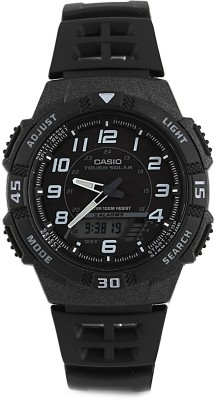 Casio Youth Combination Analog Digital Watch   For Men Black available at Flipkart for Rs.3795