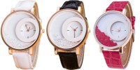 Jack Klein Combo Of 3 Moving Beads Analog Watch  - For Girls, Women