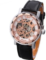 Addic Super Luxury Without Battery For Life Mechanical Rose Gold Analog Watch  - For Men