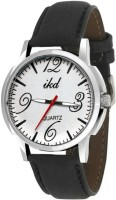Ikd Black Leather Strap WC131 Fashion Analog Watch  - For Men