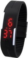 Felix Led Black Rubber Digital Watch  - For Boys, Men, Girls, Women