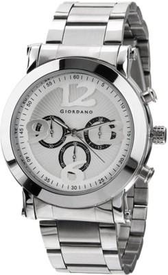 Giordano Technograph White Analog Watch  - For Men