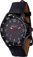 Exor Black Case Genuine Leather Analog Watch  - For Men
