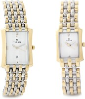 Titan Bandhan Analog Watch - For Couple (Gold, Silver)